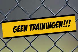 Geen trainingen op ...