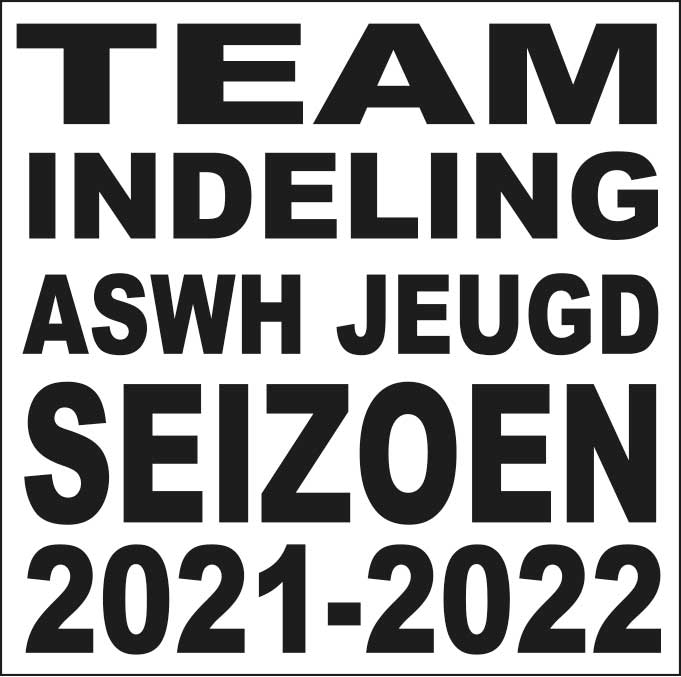 Voorlopige teamindeling ASWH Jeugd 2021-2022